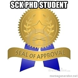 official seal of approval - SCK PhD Student