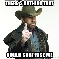 chuck norris cowboy hat - there´s nothing that could surprise me