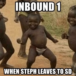 Success African Kid - Inbound 1 when Steph leaves to SD