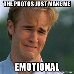 Crying Dawson - the photos just make me emotional