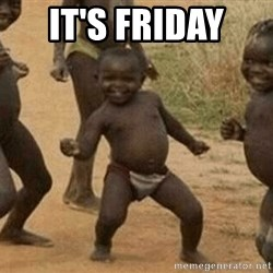 Success African Kid - It's friday