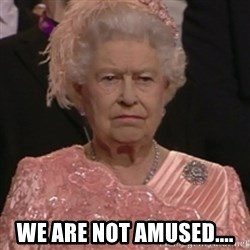 the queen olympics -  We are not amused....