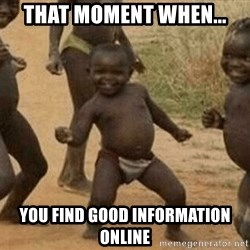 Success African Kid - that moment when... You find good information online