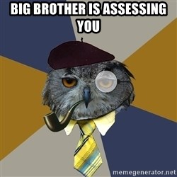 Art Professor Owl - Big brother is assessing you
