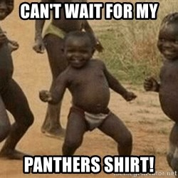 Success African Kid - Can't wait for my Panthers shirt!