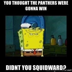 didnt you squidward - you thought the panthers were gonna win didnt you squidward?