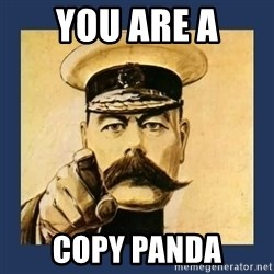 your country needs you - You are a COPY PANDA