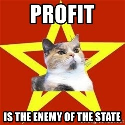Lenin Cat Red - Profit is the enemy of the state