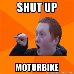 CopperCab Points - Shut up motorbike