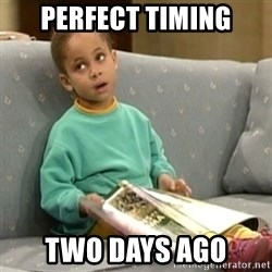 Olivia Cosby Show - Perfect timing two days ago