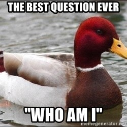 "Malicious advice mallard - The best question ever ""who am i"""