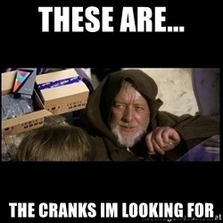 JEDI MINDTRICK - these are... the cranks im looking for
