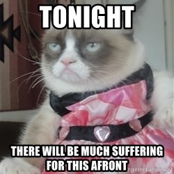 Valentines Day Tard - tonight there will be much suffering for this afront