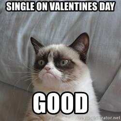 Grumpy cat good - Single on valentines day good