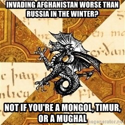 History Major Heraldic Beast - Invading Afghanistan worse than Russia in the winter? Not if you're a Mongol, Timur, or a Mughal