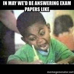 Black kid coloring - IN MAY WE'D BE ANSWERING EXAM PAPERS LIKE