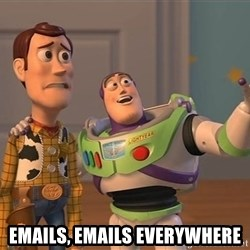 Anonymous, Anonymous Everywhere -  Emails, emails everywhere