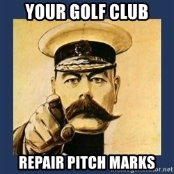 your country needs you - Your golf club Repair pitch marks
