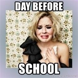 Crying Girl - Day before school