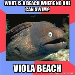 Bad Joke Eels - What is a beach where no one can swim? Viola Beach