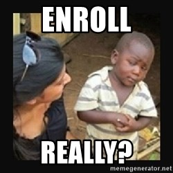 African little boy - ENROLL REALLY?