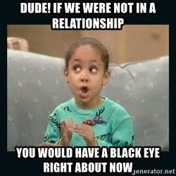 Raven Symone - Dude! if we were not in a relationship You would have a black eye right about now