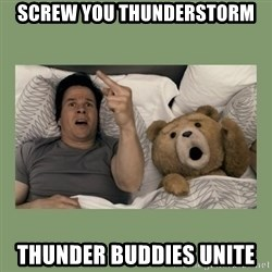 Ted Movie - Screw you thunderstorm Thunder Buddies Unite