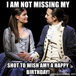 i am not missing my shot to wish amy a happy birthday happy birthday hamilton meme generator,Hamilton Birthday Meme