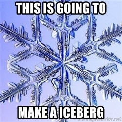 Special Snowflake meme - this is going to make a iceberg