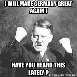 Disco Hitler - i will make germany great again ! have you heard this lately ?