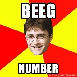 cheeky harry potter - BEEG NUMBER