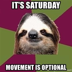 Just-Lazy-Sloth - It's saturday movement is optional