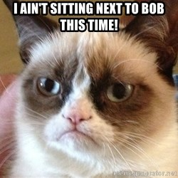 Angry Cat Meme - I ain't sitting next to bob this time!