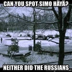 UVIC SNOWDAY - can you spot Simo Häyä? neither did the russians