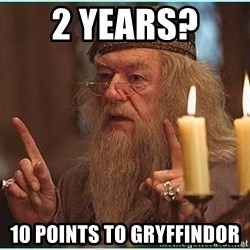 dumbledore fingers - 2 Years?  10 points to Gryffindor