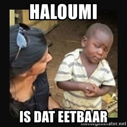 African little boy - Haloumi Is dat eetbaar