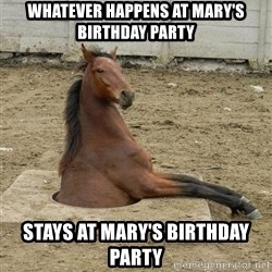 Hole Horse - Whatever happens at Mary's Birthday Party Stays at Mary's Birthday Party