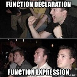 Reaction Guys - Function Declaration Function Expression