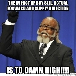 The tolerance is to damn high! - The impact of Buy Sell, Actual Forward and Supply Direction IS TO DAMN HIGH!!!!