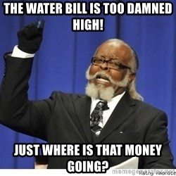 The tolerance is to damn high! - the water bill is too damned high! just where is that money going?