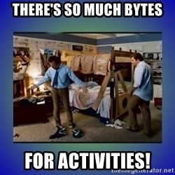There's so much more room - There's so much bytes for Activities!