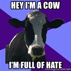 Coworker Cow - hey i'm a cow i'm full of hate