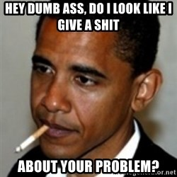 No Bullshit Obama - Hey dumb ass, Do I look like I give a shit about your problem?