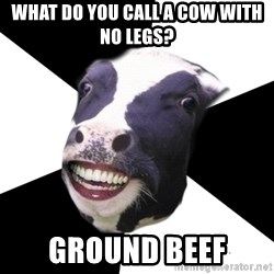 Restaurant Employee Cow - What do you call a cow with no legs? Ground beef