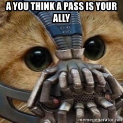 bane cat - a you think a pass is your ally