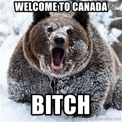 Clean Cocaine Bear - Welcome to canada bitch