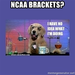 I don't know what i'm doing! dog - NCAA brackets?