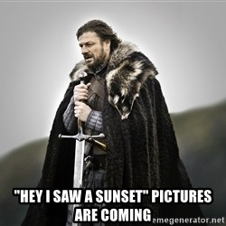 """ned stark as the doctor -  """"HEY i saw a sunset"""" pictures are coming"""