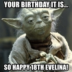 Yodanigger - your birthday it is... so happy 18th evelina!