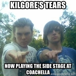 god of punk rock - KILGORE'S TEARS NOW PLAYING THE SIDE STAGE AT COACHELLA